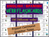 Huge Lot of English & Spanish Flash Cards in the Present Continuous Tense