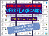 Huge Lot of English & Spanish Flash Cards in the Present P