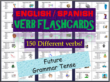 Huge Lot of English & Spanish Flashcards in the Future Tense