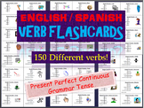 Huge Lot of English & Spanish Flashcards in the Present Perfect Continuous Tense