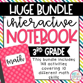 Not So Wimpy Teacher's interactive notebook bundle for math lessons. Available on TpT