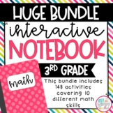 Huge 3rd Grade Math Interactive Notebook Bundle