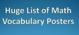 Huge Math Vocabulary Resource! Huge Variety of Math Subjec
