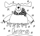 Huge Merry Christmas Poster That  Kiddos Can Color!