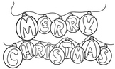 Huge Merry Christmas Poster That Kids Can Color!