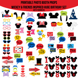 Huge Mickey Mouse & Friends Clubhouse Inspired Printable Photo Booth Prop Set