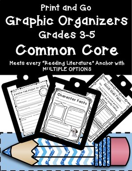 Huge Pack of Common Core Reader's Response Graphic Organizers