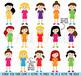 Huge Pack of Female Student Clipart Clip Art, Classroom Clipart, Teacher Clipart