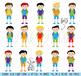 Huge Pack of Male Student Clipart Clip Art, Classroom Clipart, Teacher Clipart