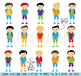 Huge Pack of Male Student Clipart Clip Art, Classroom Clip