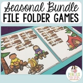 Huge Seasonal Bundle of File Folder Games - Morning Work, Centers, & More!