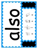 Huge Set of Sight Words with ASL Finger Spelling - 460 Lar
