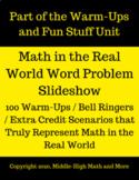 Huge Slideshow of 100 Real World Word Problems