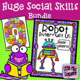 Huge Social Skills Bundle:  Interrupting, Listening, Speaking, and Self Control