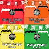 Digital Papers & Frames & Banners Bundle