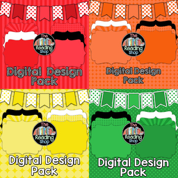 Digital Papers & Frames & Banners Bundle