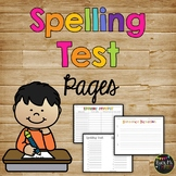 Spelling Test Papers and Spelling Pretest Pages {10, 12, 15, & 20 Word Lists}