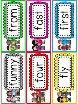 Huge Word Wall Set {Includes All The Dolch Words}