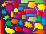 Huge set of speech and thinking bubbles- Vector EPS file