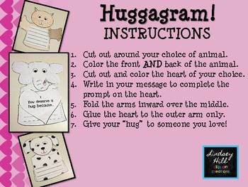 Huggagram {A Simple Valentine's Day Writing & Coloring Activity}