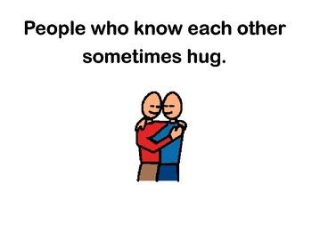 Hugging Social Story