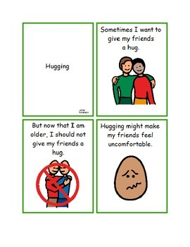 Hugging Social Story- Not just Autism