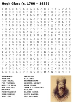 Hugh Glass (The Revenant) Word Search