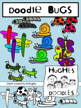 Bugs Clip Art- Hughes Doodles {Personal and Commercial Use}