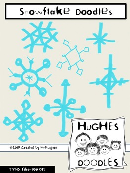 Snow Flakes Clip Art- Hughes Doodles {Personal and Commercial Use} FREEBIE