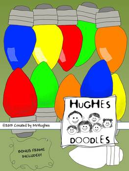Holiday Lights Clip Art- Hughes Doodles  {Commercial and Personal Use}