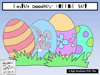 Easter Clip Art - Hughes Doodles FREEBIE {Personal and Com