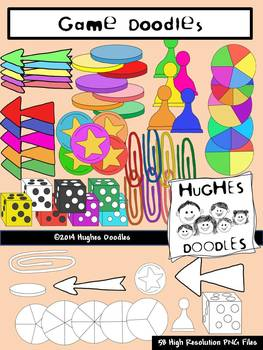 Game Parts and Pieces Clip Art- Hughes Doodles- {Personal and Commercial Use}