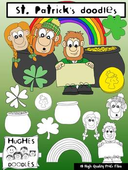 St. Patrick's Doodles Clip Art- Hughes Doodles {Personal and Commercial Use}
