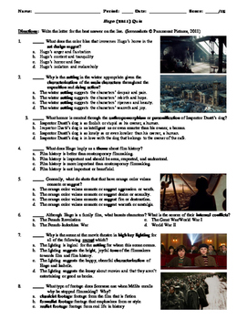 Hugo Film (2011) 15-Question Multiple Choice Quiz