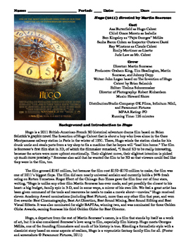 Hugo Film (2011) Study Guide Movie Packet