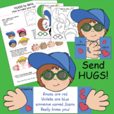 Hugs By Mail Cut_Out DIY Activity (Karen's Kids Printables)