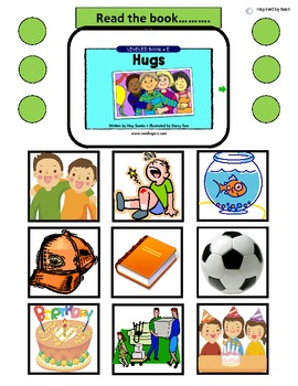 """""""Hugs"""" Comprehension Questions & Token Test for Autism"""