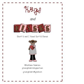 Hugs & Kisses - Short U and I Sort and Games