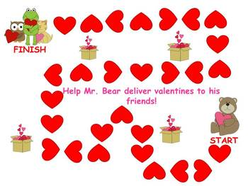 Hugs and Kisses Valentine's Articulation S, S blends, R, a