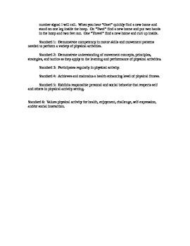 Hula Hoop Activites: Week of Lessons