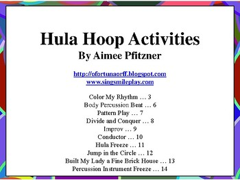 Hula Hoop Activities for the Music Classroom