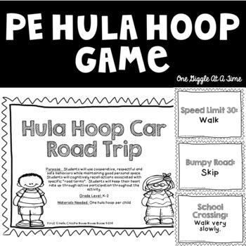 Hula Hoop Car Road Trip Phys Ed Game