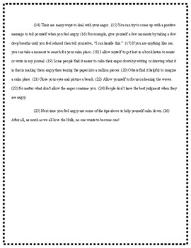 Hulk Controlling Anger: Edit/Revise passage