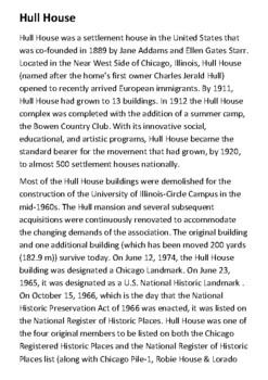 Hull House Handout