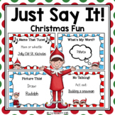 Just Say It!  Christmas Party Task Cards