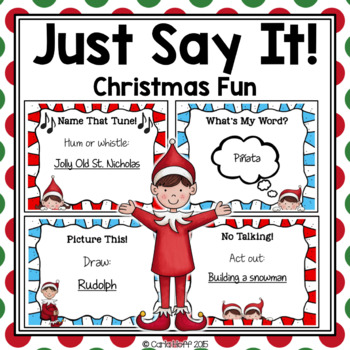Name It!  Christmas Task Cards - Party Game