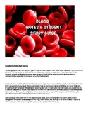 Human A&P Blood Lecture notes and Student Study Guide