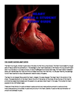Human A&P Heart Lecture notes and Student Study Guide