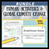 Human Activities & Global Climate Change Doodle Notes, Quiz, & Game Bundle