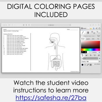 human body coloring and science literacy unit - Human Body Coloring Book